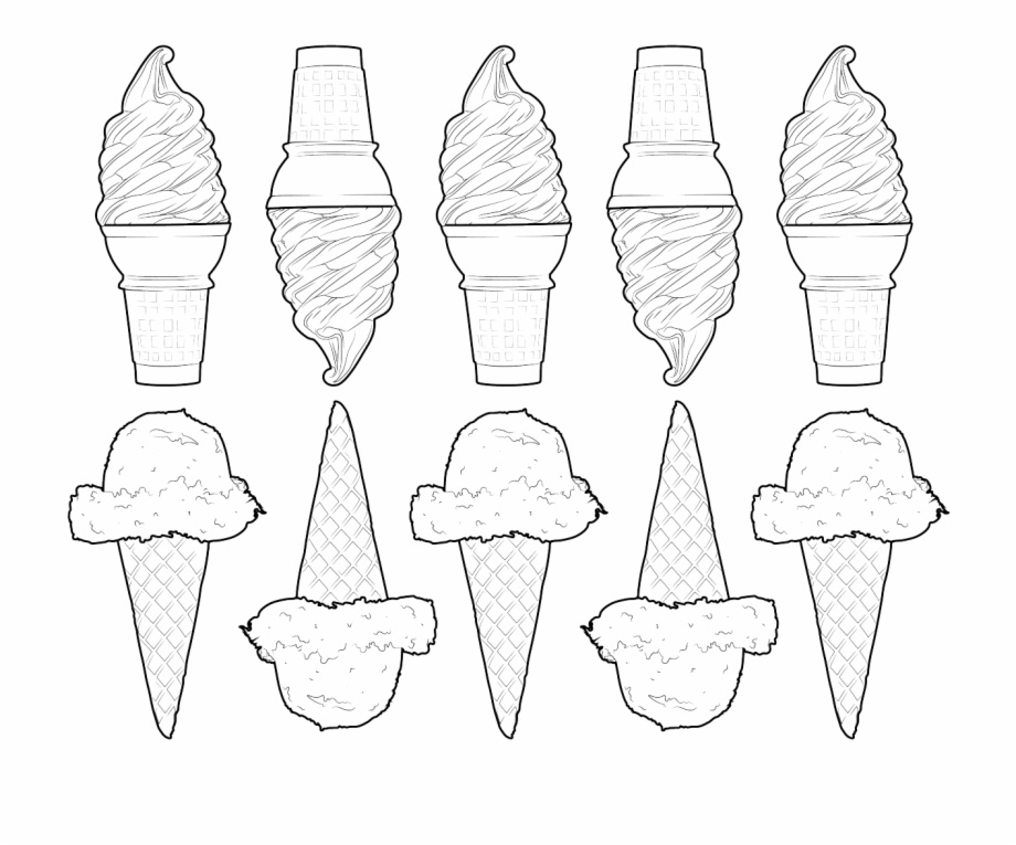 28 Collection Of Tumblr Png Coloring Pages Ice Cream Cone Transparent Png Download 350888 Vippng