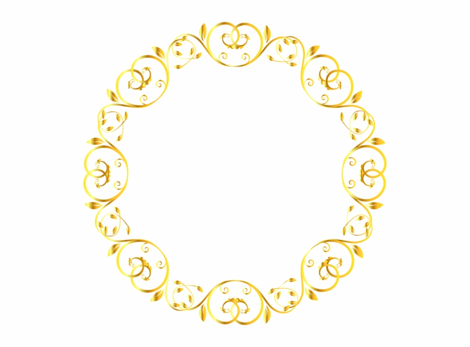 Decorative Round Border Frame Clip Art Image Border Yellow Circle Design Transparent Png Download 4955731 Vippng
