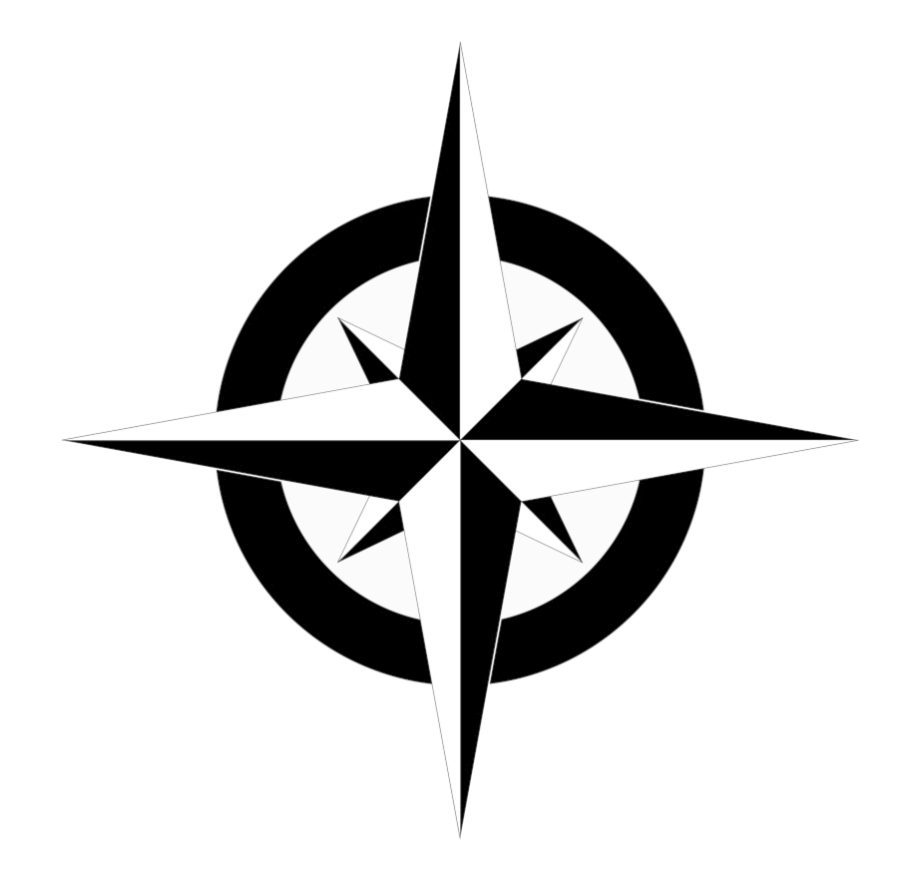 Compass Clipart North Arrow Simple Map Vector Transparent