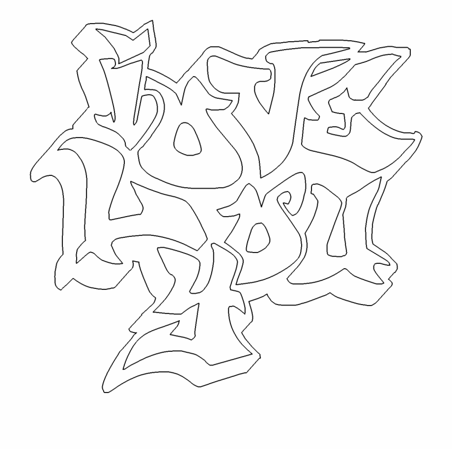 We Love You Coloring Page With I Graffiti Free Online Love You Graffiti Coloring Pages Transparent Png Download 999077 Vippng