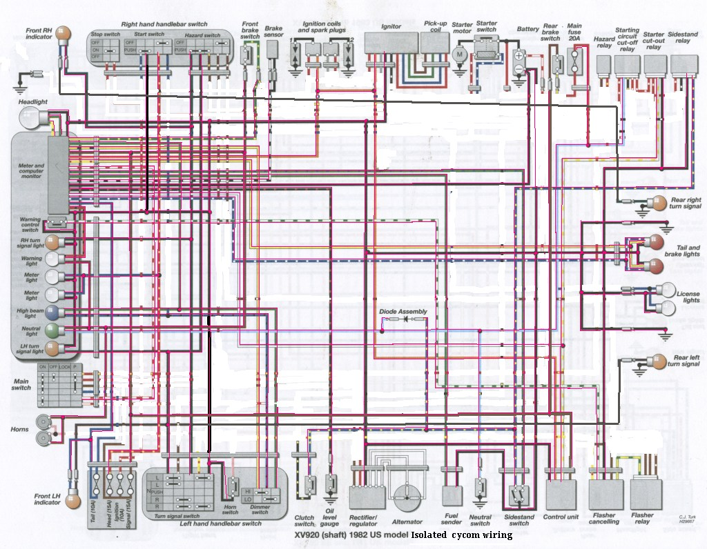 yamaha virago wiring diagram telephone viragotechforum  view topic easyriders bike