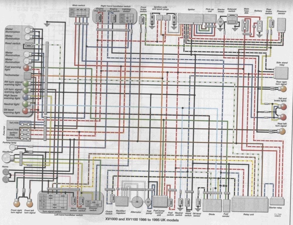 medium resolution of virago xv700 wiring diagram flasher relay