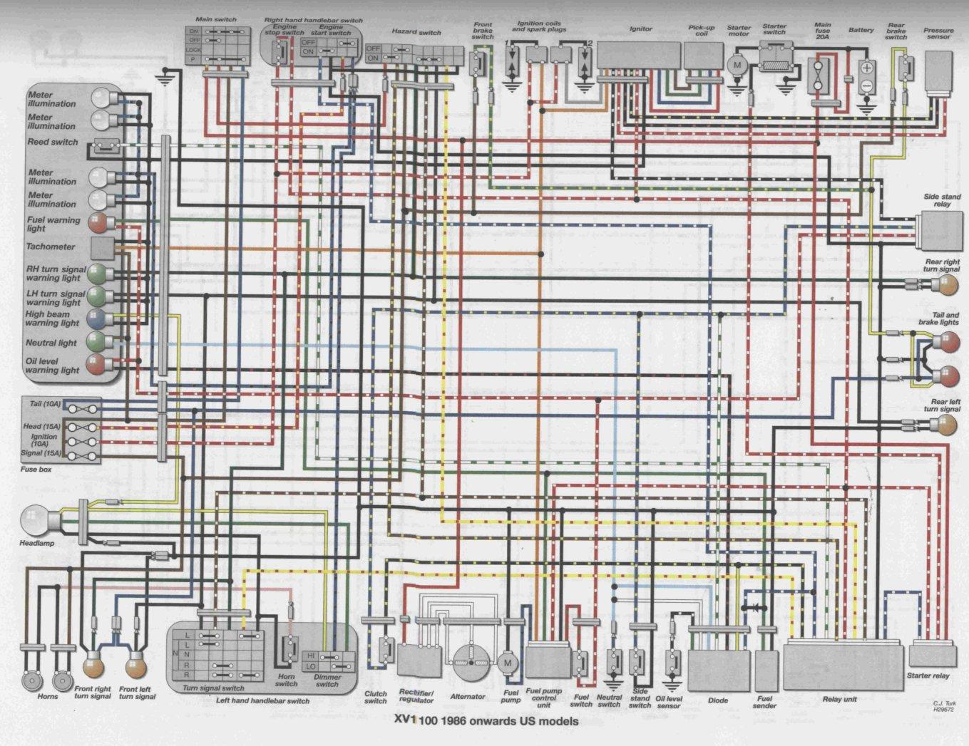 86_96_us_XV1100?resize=665%2C512 1996 yamaha virago 535 wiring diagram wiring diagram 1993 yamaha virago 535 wiring diagram at creativeand.co