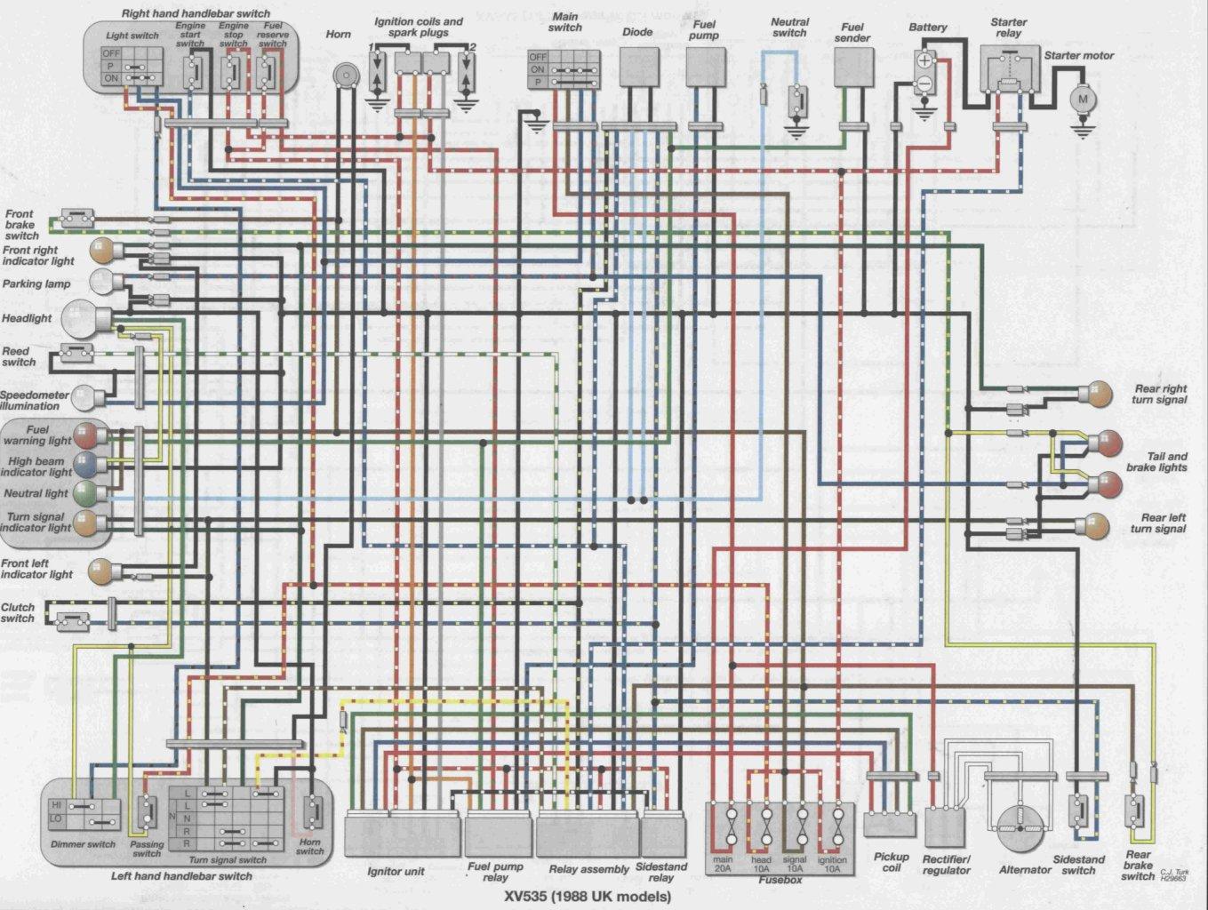 Yamaha virago wiring diagram tw