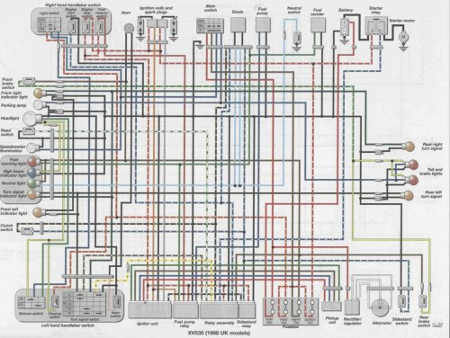 small resolution of  1995 yamaha virago 750 wiring diagram index of wiring