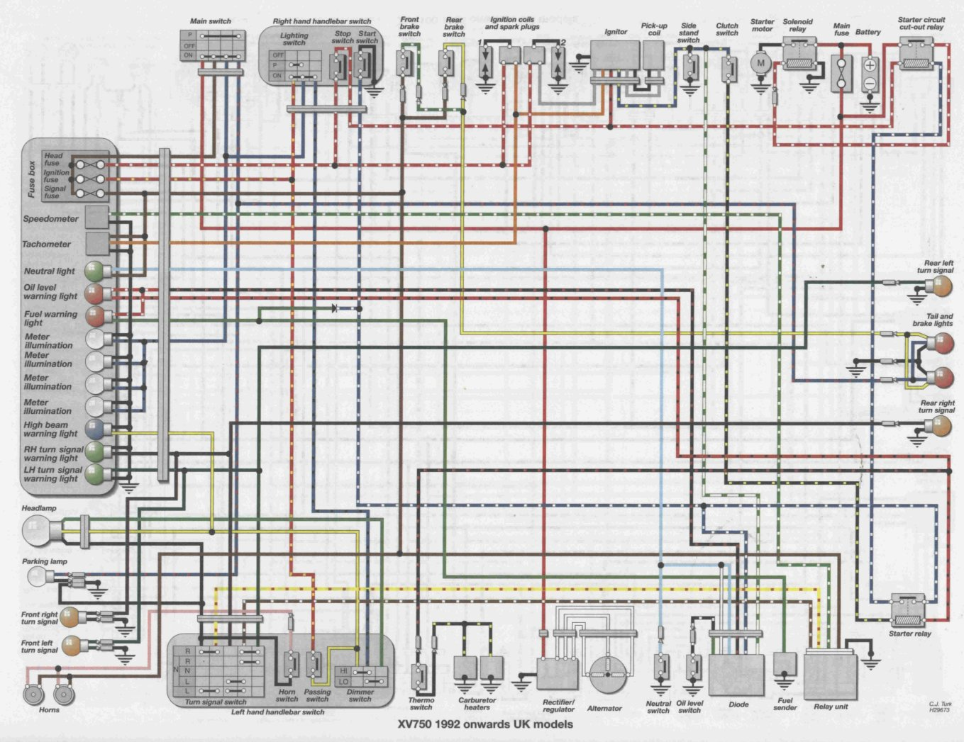 yamaha virago wiring diagram typical western star fuse box get free image about