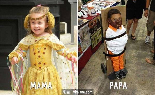 9幅圖說中爸媽的分別!真的世上只有媽媽好?!