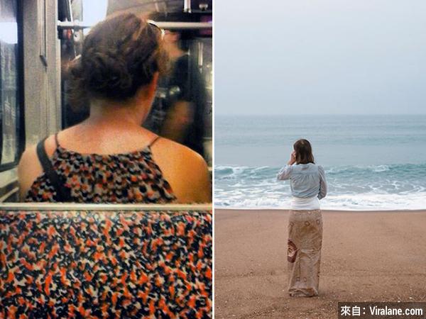 當你穿了和背景一模一樣的衣服⋯⋯
