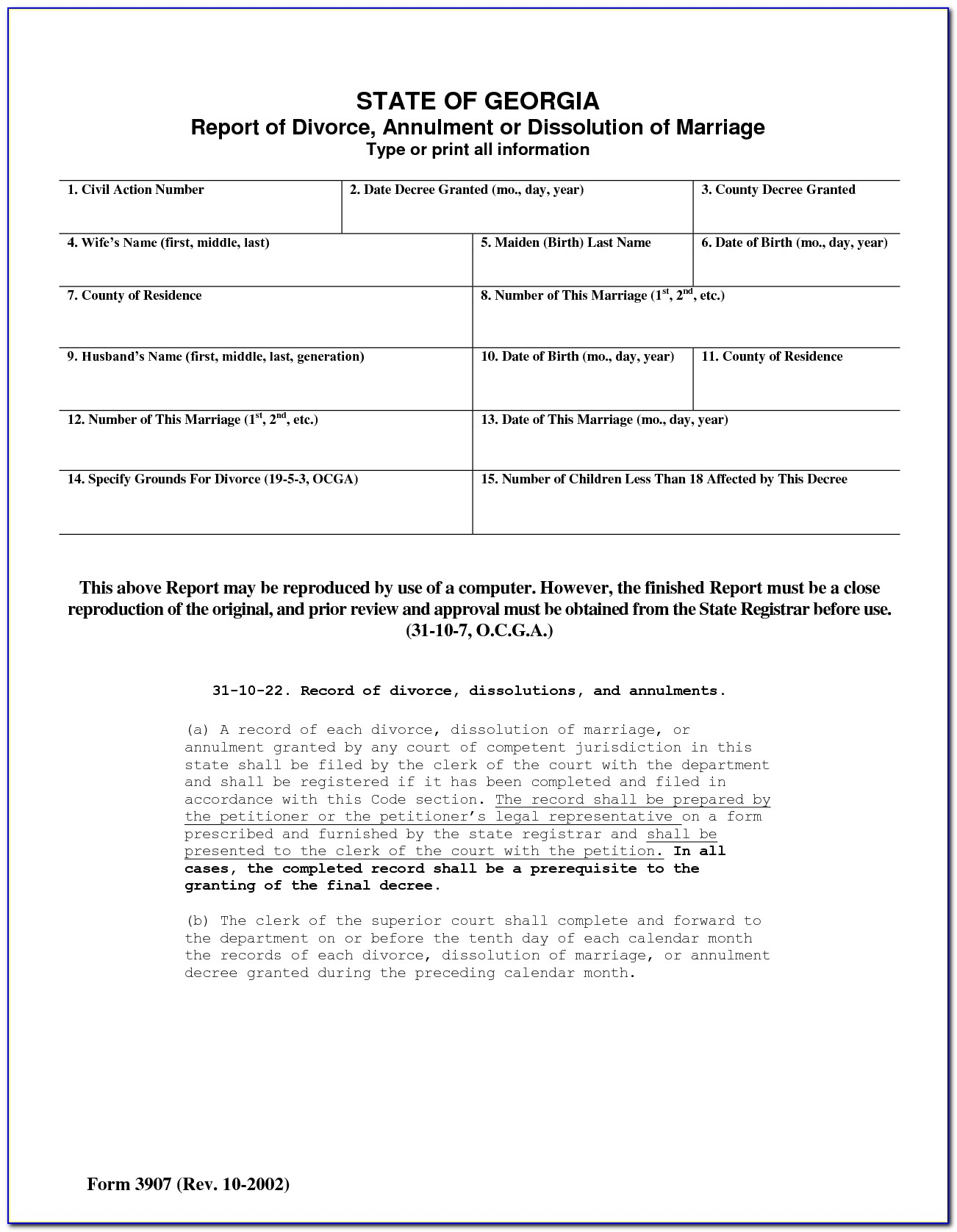 Free Fake Divorce Papers Template