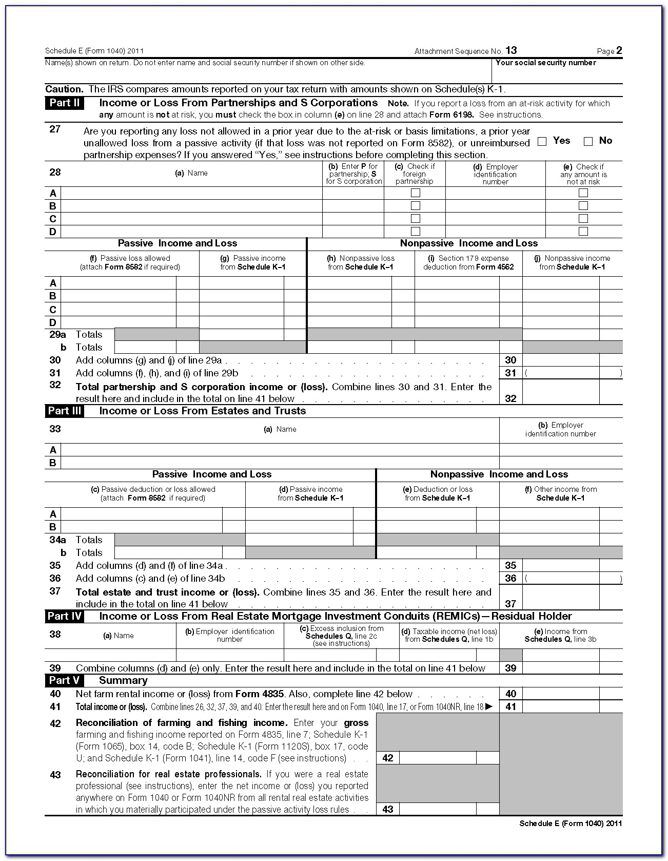 Copy Of Schedule A Form