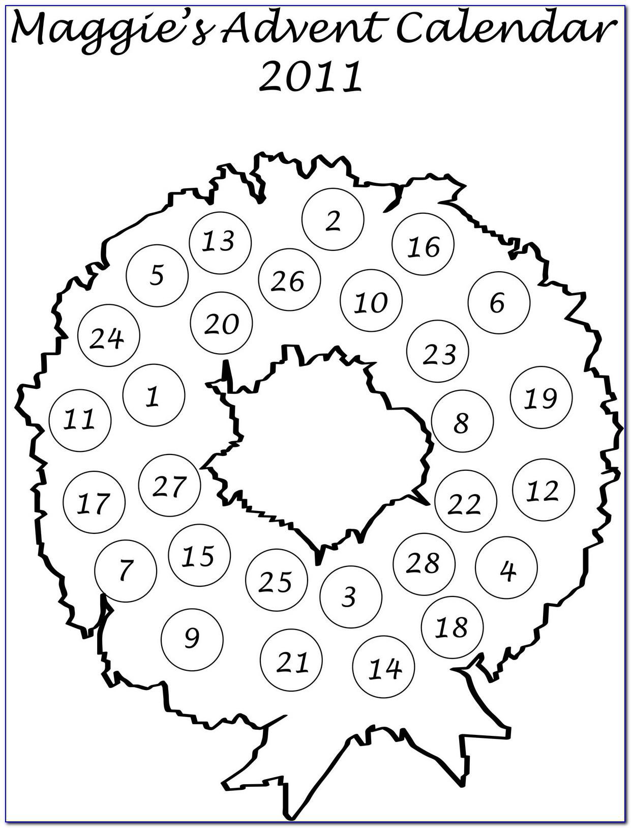 Advent Wreath Pattern