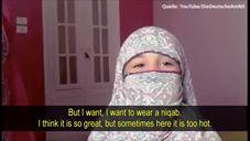"""Lille pige med niqab: """"Når jeg bærer den, føler jeg mig voksen, og det føles godt"""""""