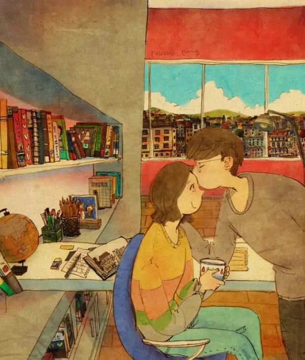 amor-detalles-Puuung-artista-ilustraciones-beso-frente