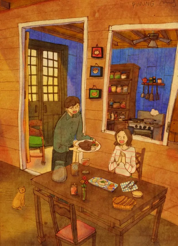 amor-detalles-Puuung-artista-ilustraciones-cena