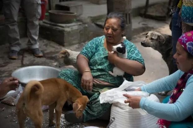 mujer-ayuda-perros-nepal-terremoto-gyany-deula
