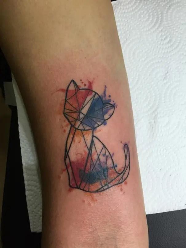 tatuaje minimalista de gatos13