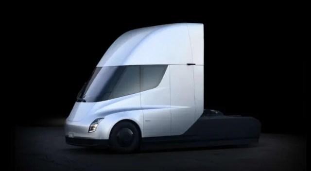1er camion totalmente electrico construido por elon musk el tesla semi podria suprimir choferes individuos para 2020 exploran autonomia y modo convoy para reducir costes a enormes comerciantes