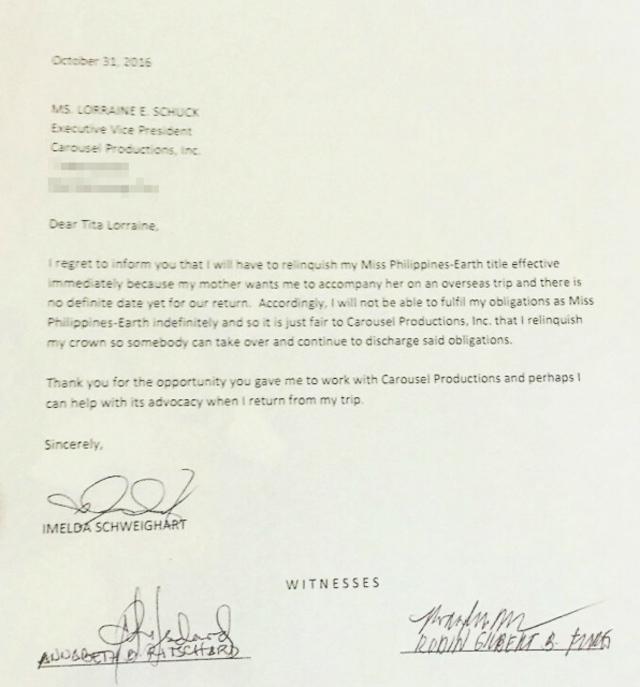 LOOK: Imelda Schweighart Resigns Not Because Of Bashing