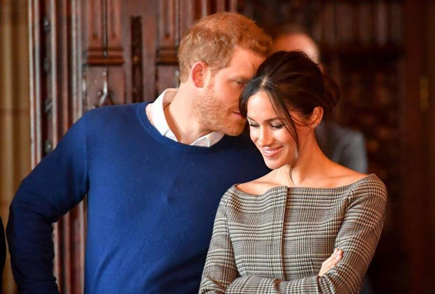 Markle with Harry