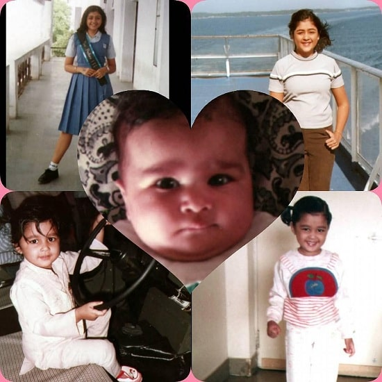 Cute Childhood Pictures of Sapna Vyas Patel