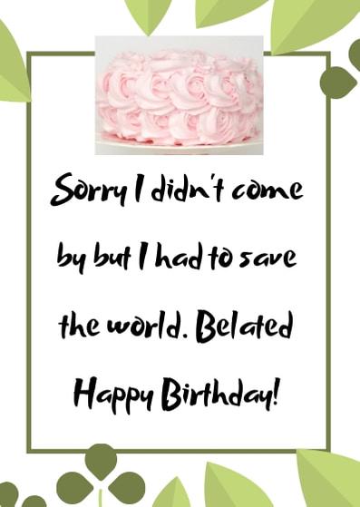 happy belated birthday image
