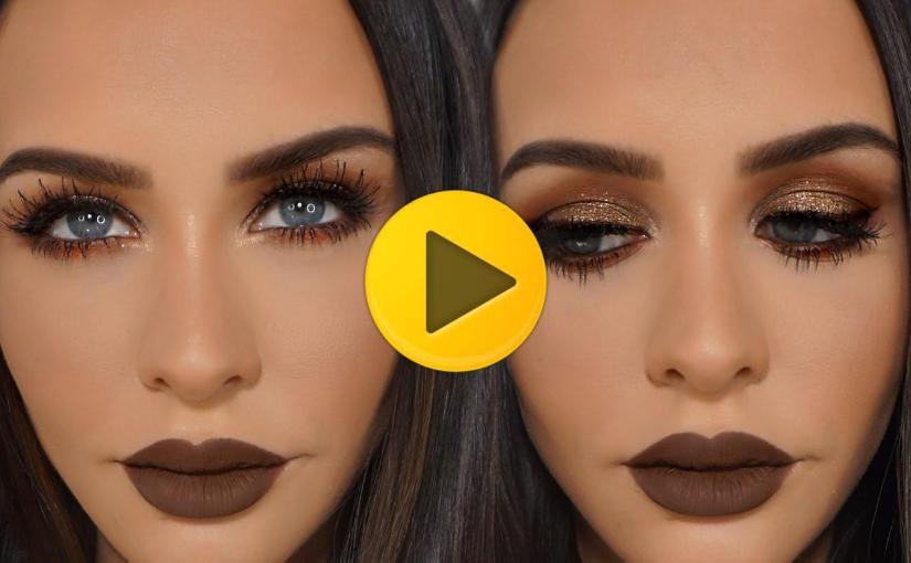 Brown Copper Glitter Smokey Eye Carli Bybel Viralvideos