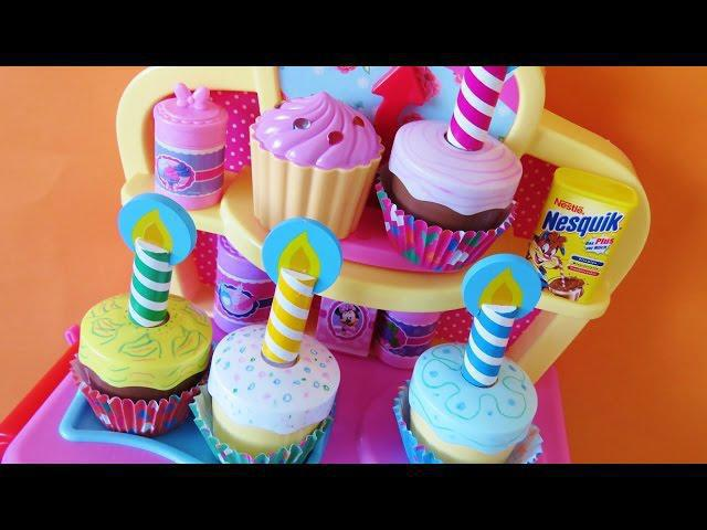 Toy Magic Oven Bake Decorate Cupcakes Muffins Minnie Mouse Kitchen Accessories Surprise Cupcake Toys