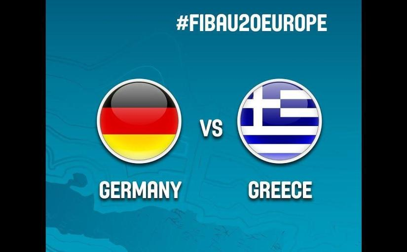 Watch FULL VIDEO Germany vs Greece at the FIBA #FIBAU20 European Championship 2017
