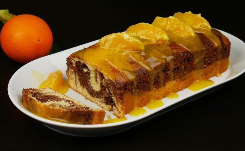Λαχταριστό κέικ πορτοκάλι – σοκολάτα