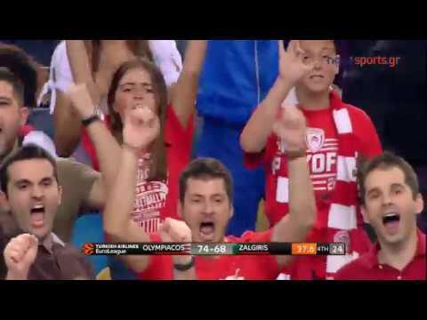 Ολυμπιακός – Ζάλγκιρις Κάουνας  79 – 68 2ος Αγώνας Playoffs Euroleague ( highlights)