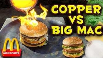 Pouring Molten Copper On A Big Mac