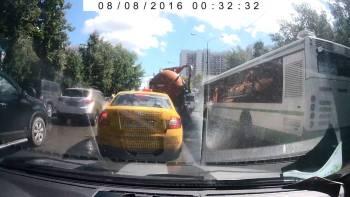 Full Sewage Truck Explodes On Russian Street