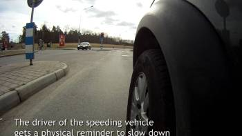 Smart Speedbump Changes Based On Car Speed