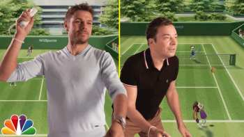 Jimmy Fallon Plays Wii Tennis With US Open Champion Stan Wawrinka