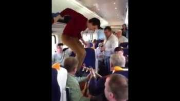 Teen Performs Set Dancing On Dublin Train