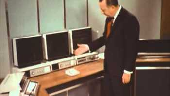 Walter Cronkite In 1967 Tours 'The Home Office Of 2001'