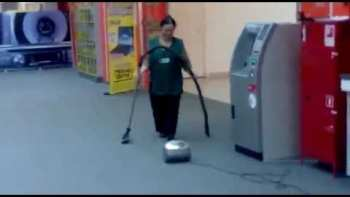 Cleaning Lady Vacuum Fail