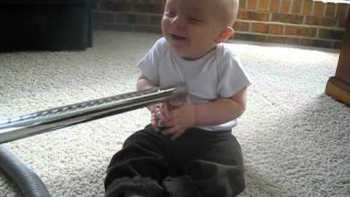 Baby Laughs Being Vacuumed