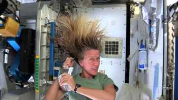 Astronaut Karen Nyberg Washes Her Hair On International Space Station