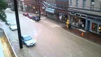 Elicott City, Maryland Street Flooded