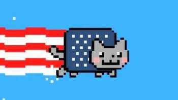 American Fourth Of July Nyan Cat