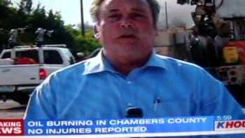 Local News Reporter Caught Smoking During Report On Oil Fire