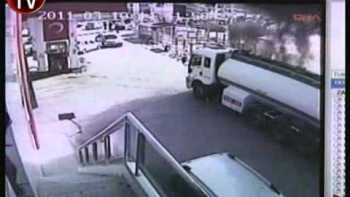 Man Drives Burning Gas Truck Away From Neighborhood