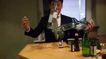 Unbelievable Bottle Balancing By Rocky Byun