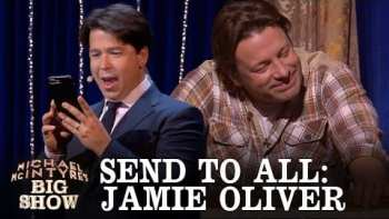 Jamie Oliver Can Only Watch As A Text Is Send To All His Contacts