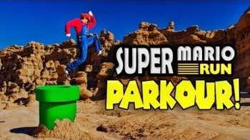 Super Mario Run Meets Parkour in Real Life