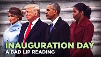 A Bad Lip Reading of Donald Trump's Inauguration