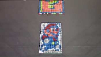 Super Mario Stopmotion Made Of Rubik's Cubes