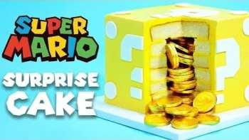 Epic Super Mario Question Block Cake