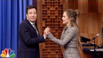Jimmy Fallon Has A Dance Battle With Jennifer Lopez